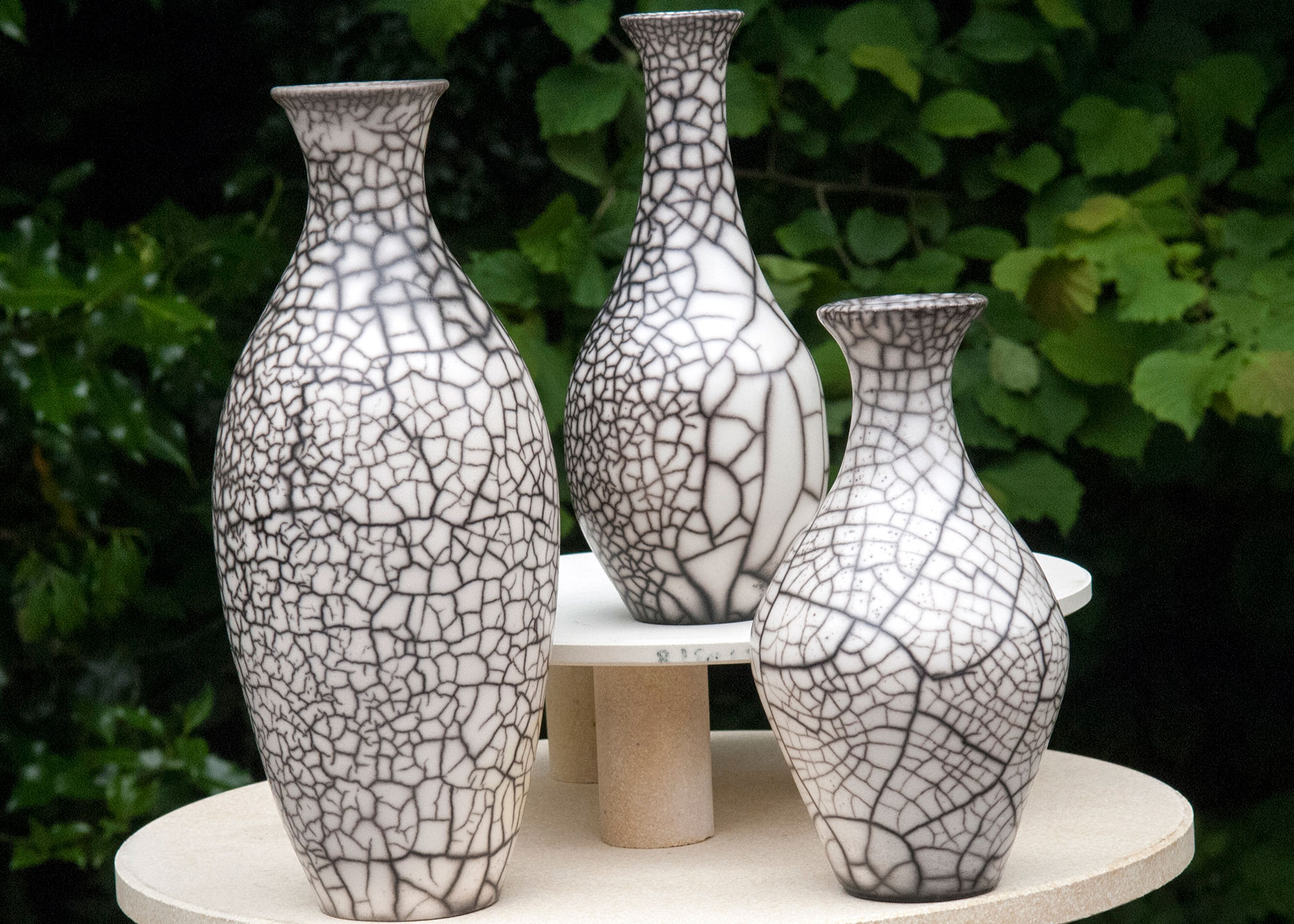 Naked Raku Set of pots
